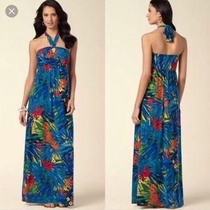 Soma Keyhole Halter Hawaiian Maxi Dress